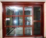 Bois-Terminer la porte coulissante grande en aluminium (BHA-DS08)