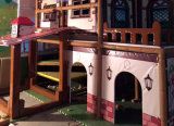 Спортивная площадка симпатичной темы дома крытая с зоной младенца
