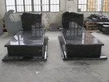 Lápide preta absoluta do europeu/russo/do granito estilo americano para o memorial