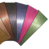 Stainles 강철 색깔 장 304