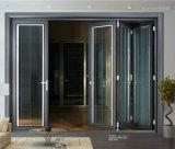 G&F Jinfuの良質アルミニウム折れ戸の倍ガラスのドア