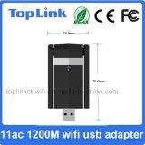 Dongle de WiFi de carte réseau sans fil du jeu de puces USB 3.0 de Top-5D11 802.11AC 1200Mbps 2T2R Realtek Rtl8812bu avec l'antenne 5dBi
