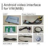 Caixa Android da navegação do GPS para a relação do vídeo de Volkswagen Tiguan Mqb