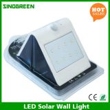Ce solar esperto solar solar da lâmpada de parede do diodo emissor de luz & do sensor do diodo emissor de luz da parede da luz de RoHS