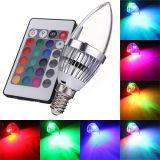 Der RGB-LED Fernfeiertags-Lichter kerze-Birnen-E27 E14 B22 mit 120 Grad-Strahlungswinkel für Partei-Lampen