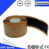 Fabricante de goma auto-adhesivo negro de la cinta de la masilla