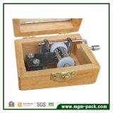 La impresión personalizada caja de música de madera con metal movimiento