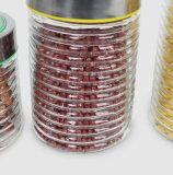 Vaso di vetro 2100ml stabilito 1700ml 1100ml 800ml dell'alimento di memoria di vendita diretta della fabbrica con il coperchio del metallo