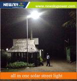 sensor de movimiento 30W todo en una luz de calle solar con el sensor de movimiento