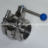 SMS sanitario Union Butterfly Valve para Food Industry