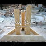 Fontaine en pierre de marbre Mf-1036 d'or de désert de jardin de granit