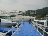 Muelle flotante del barco