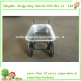 Double durevole Wheels Wheelbarrow con 75L Galvanized Tray (WB6432)
