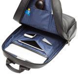 Backpack компьтер-книжки неподдельной кожи черноты пользы хорошего качества ежедневный для школы