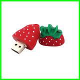 OEM 실리콘 USB 지팡이 딸기 USB Pendrive