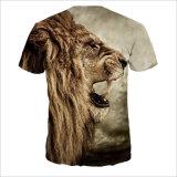 Gedrucktes Karikatur-Tiger-Kurzschluss-Polyester-Stück-Hemd für Mann
