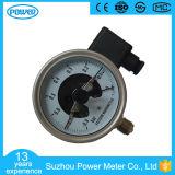 type inférieur indicateur de 100mm Wika de pression électrique de contact de plein vide d'acier inoxydable