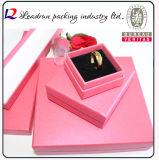 Rectángulo de joyería de madera del rectángulo de regalo del papel de rectángulo de regalo del rectángulo de joyería del embalaje de la joyería (Lj08)