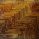 Plancher en bois en arête de poisson conçu/plancher parquet de bois de rose