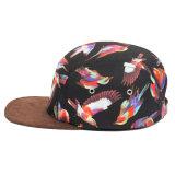 Sombrero de encargo del casquillo del campo del panel del espacio en blanco 5 del Snapback del borde del ante