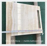 Mármore de madeira do granito de Onxy para a parte superior da vaidade do banheiro