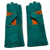 16 Zoll-Kuh-aufgeteiltes Leder-Handschutzhandschuhe für Schweißen
