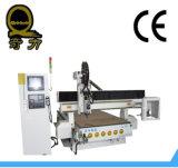maquinaria de madeira da gravura da estaca do Woodworking do router do CNC de 3D Alumnium