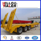 무거운 장비 수송 세 배 차축 60 톤 굴착기 트레일러