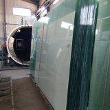 Голубым стекло пленки PVB закаленное двойником прокатанное