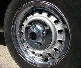 Cubierta inoxidable de la tuerca del terminal de acero con los bordes para los carros de Ford
