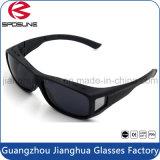 Gafas de sol excesivas grandes de los vidrios protectores con estilo negros del ojo para la miopía usada pescando las gafas de sol