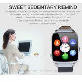 SIMのカードスロット(X6)が付いているBluetoothの情報処理機能をもった腕時計の携帯電話