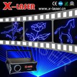 Laser della discoteca che illumina esposizione blu del laser di animazione