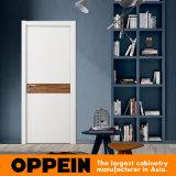 Дверь белого меламина просто конструкции Oppein деревянная нутряная (YDG002D)