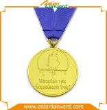 Kundenspezifische Unterschied-Überzug-Medaille mit Farbbändern