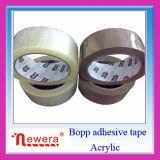 防水機能およびBOPPのBOPP OPPのフィルムの物質的なゴムのパッキングテープが付いている水の基づいたアクリルのコーティング