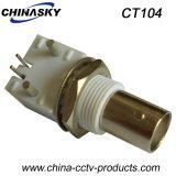 Connecteur de câble coaxial femelle CCTV BNC pour PCB (CT104)