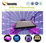 多彩な時間Tunnel 3D Mirror Glass LED Dance Floor