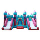 Bouncer inflável 9 do Trampoline de Infatable em 1 casa do salto de Caslte da ligação em ponte