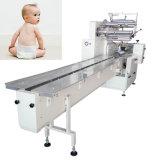 Máquina de embalaje desechable del pañal del bebé del pañal automático 6PCS