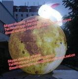 De reuze Opblaasbare Ballon van de Maan met Konijn met LEIDENE Lichten