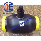 Aço de carbono do volante de API/DIN/BS que flutua a válvula de esfera soldada