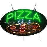 Alto tablero oval de la muestra de la pizza el destellar LED