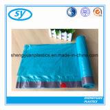 高品質のHDPEのプラスチックドローストリングのごみ袋