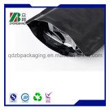Il di alluminio opaco nero si leva in piedi in su il sacchetto di caffè con la chiusura lampo