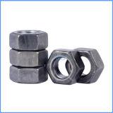 Tuerca hexagonal de acero al carbono de color negro con alta calidad