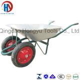 Wheelbarrow da ferramenta da construção de África Wb6406 com duas rodas