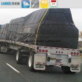 Waterdichte Stof van het Gordijn van het Geteerde zeildoek van de Dekking van de vrachtwagen de Zij