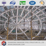 Edificio de servicio del braguero del tubo de la estructura de acero
