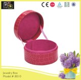 Color rosado Aduana-hizo Round Small Jewelry Box (8010R2)